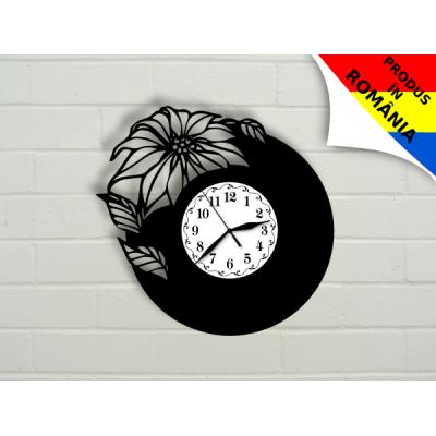 Ceas abstract cu floare - model 3