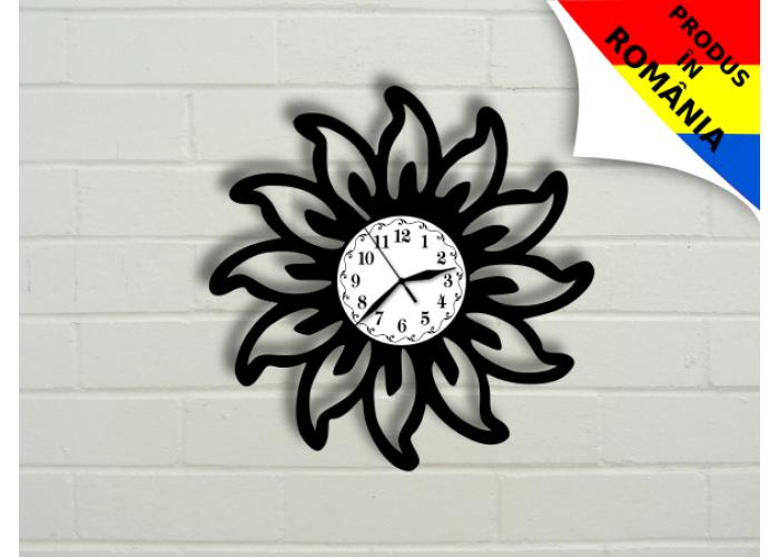 Ceas abstract cu floare - model 5
