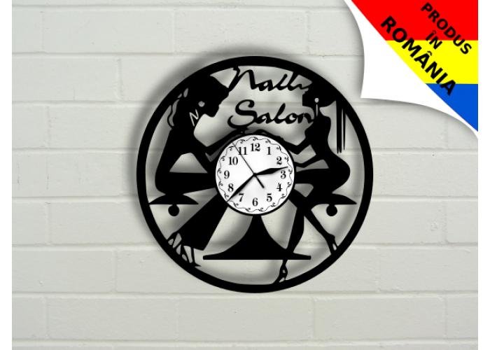 Ceas pentru salon de manichiura - unghii - model 3