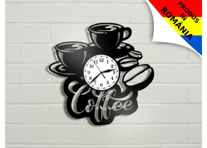 Ceas boabe de cafea si cana