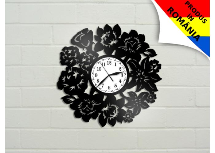Ceas cu flori - model 2