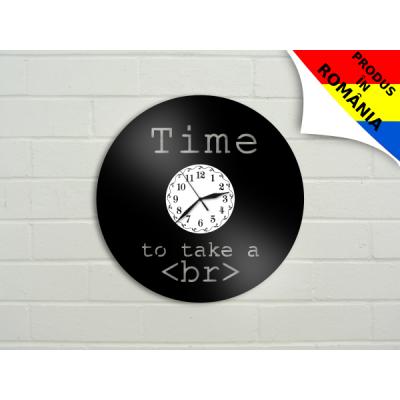 """Ceas """"Time to take a brake"""" - programatori"""