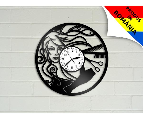 Ceas pentru salon de coafura - model 6