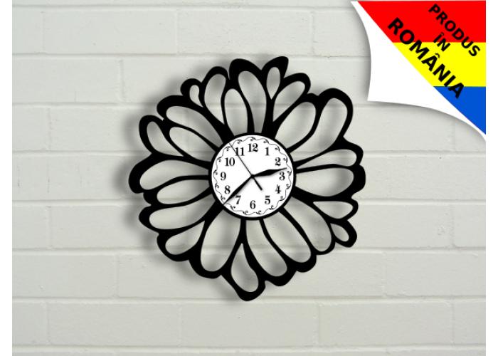 Ceas abstract cu floare - model 4