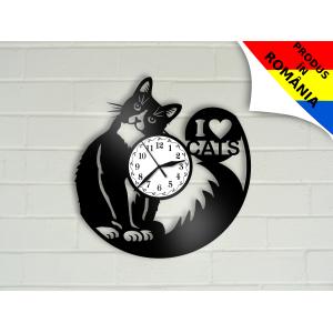 Ceas cu pisica - I love cats