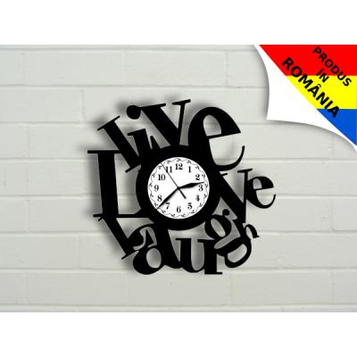 """Ceas """"Live, Love, Laugh"""""""